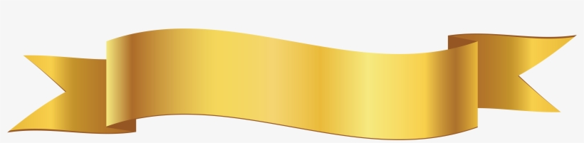 Ribbon Banner Outline Png - Yellow Banner Png Clipart, transparent png #1089306