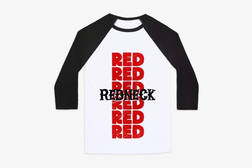 Redneck Baseball Tee - Long-sleeved T-shirt, transparent png #1089509