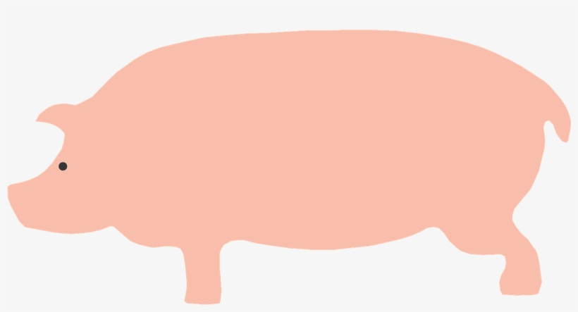 Pigs Drawing Side View - Cartoon Pig Side View, transparent png #1091957