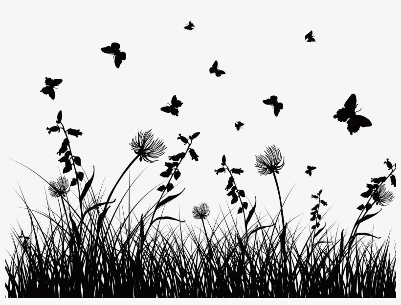 Wildflower Vector Silhouette - Png Free Flower Silhouette ...