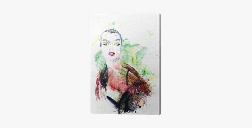 Abstract Woman Portrait - Canvas Print, transparent png #1093465