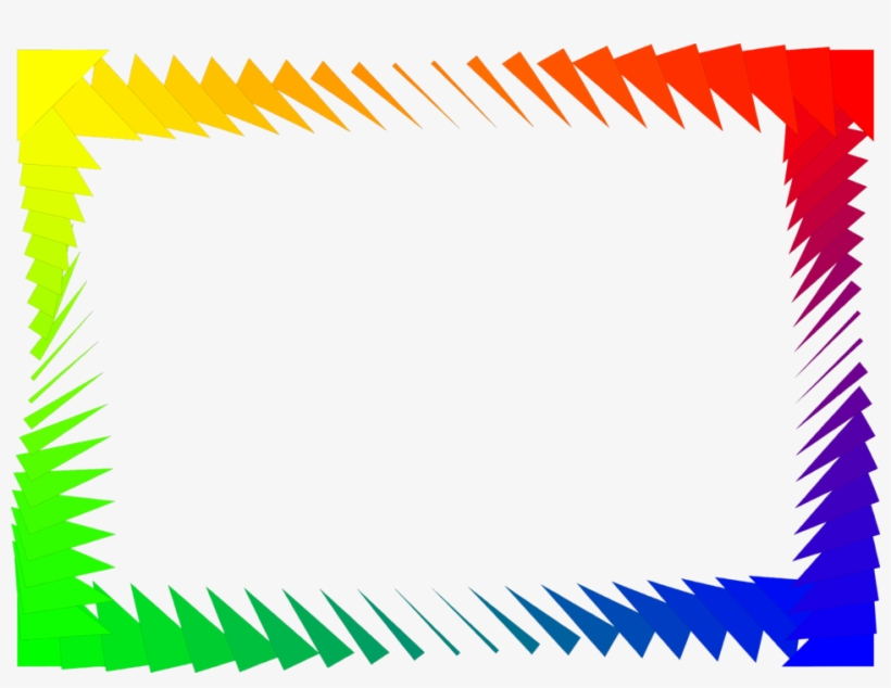 Border Rainbow - Colorful Frames And Borders Png, transparent png #1094386