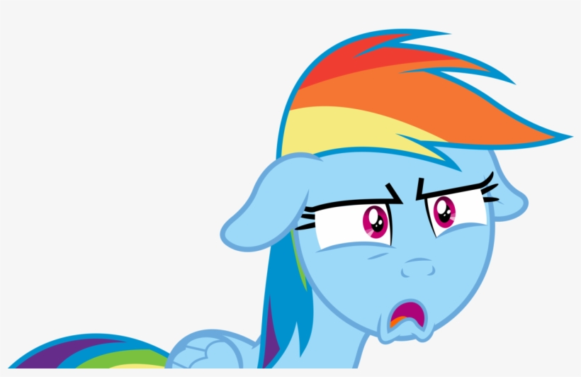 Absurd Res, Artist - Rainbow Dash Shocked Face, transparent png #1094837