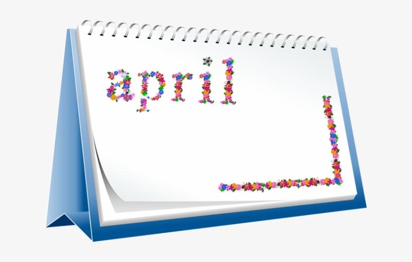 April transparent. Calendar clipart free png