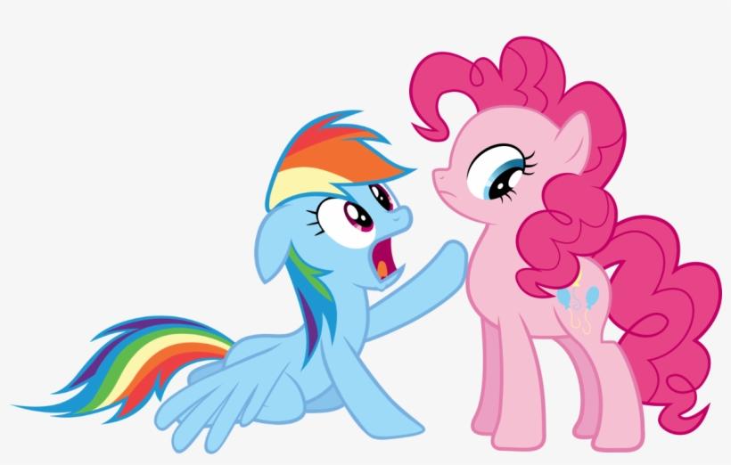 Concerned, Kneeling, Pinkie Pie, Rainbow Dash, Safe, - Simple Little Pony Background Png, transparent png #1095050