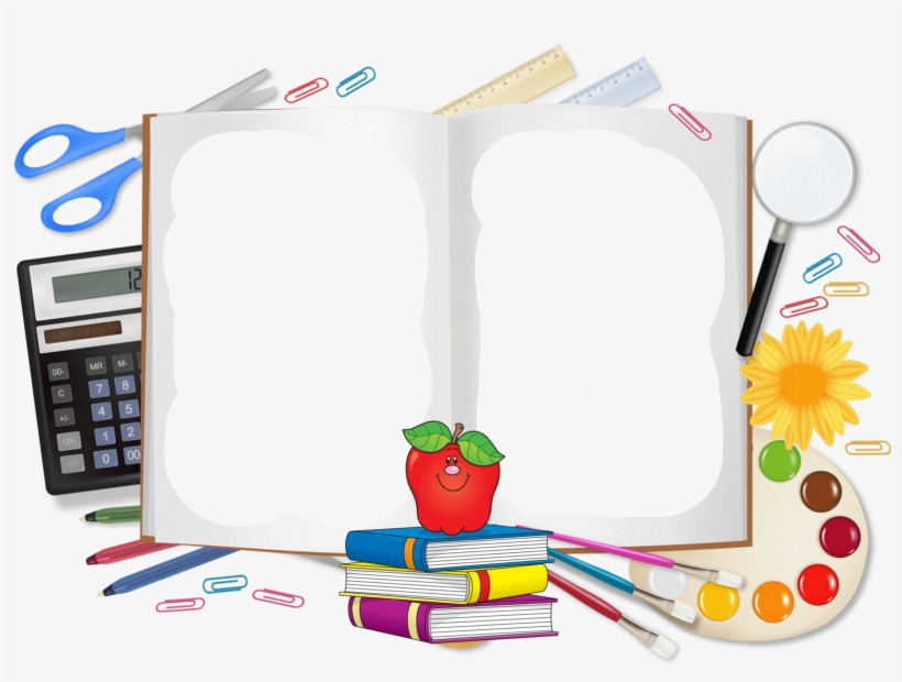 Student School Supplies Clip Art - School Vector Background Png, transparent png #1095473