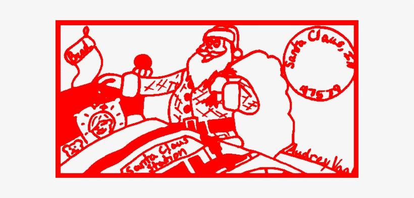 Santa Claus Indiana Postmark - Santa Claus, transparent png #1095911