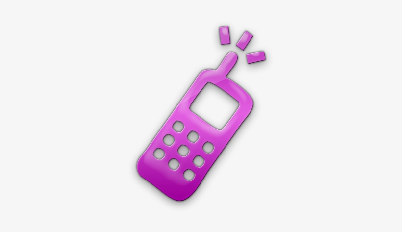 Pink Cell Phone Clipart - Green Cell Phone Icon Png, transparent png #1097733