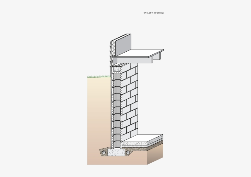 Figure 2-1 - Brick Basement Wall Detail, transparent png #1098353