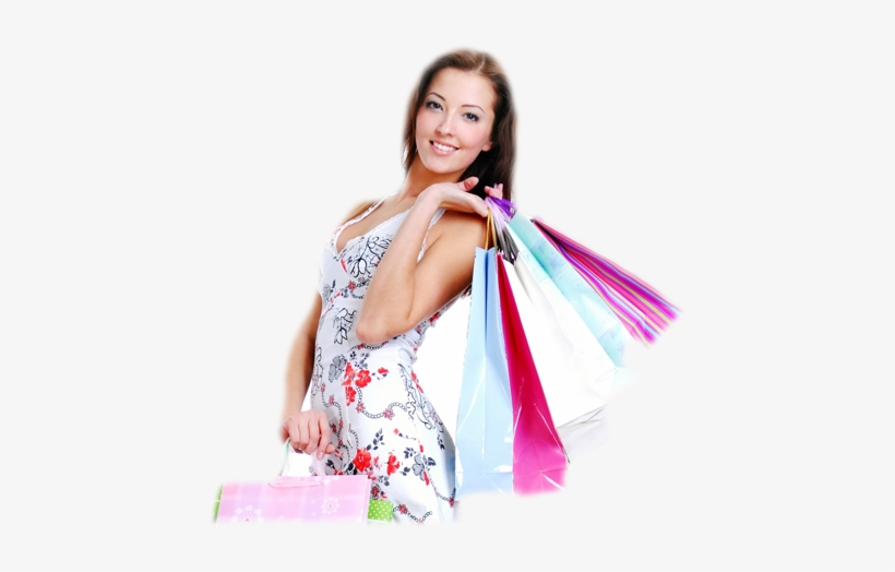 Deal92 Great Deals - Girl With Shopping Bags Png, transparent png #110017