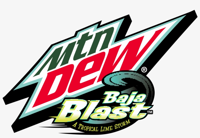 Bajablast Mountain Dew - Mountain Dew Baja Blast Logo, transparent png #110044