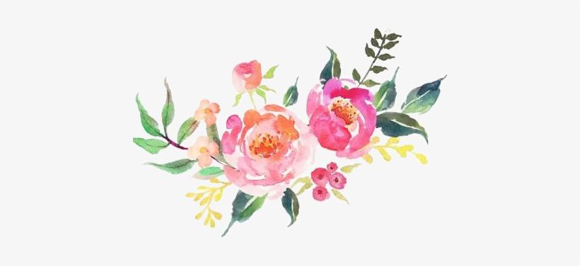 Watercolor Flowers Flores Kpopedit No Es Mi Arte - Maid Of Honor Tote Bag, Bridesmaid Gifts, transparent png #110309