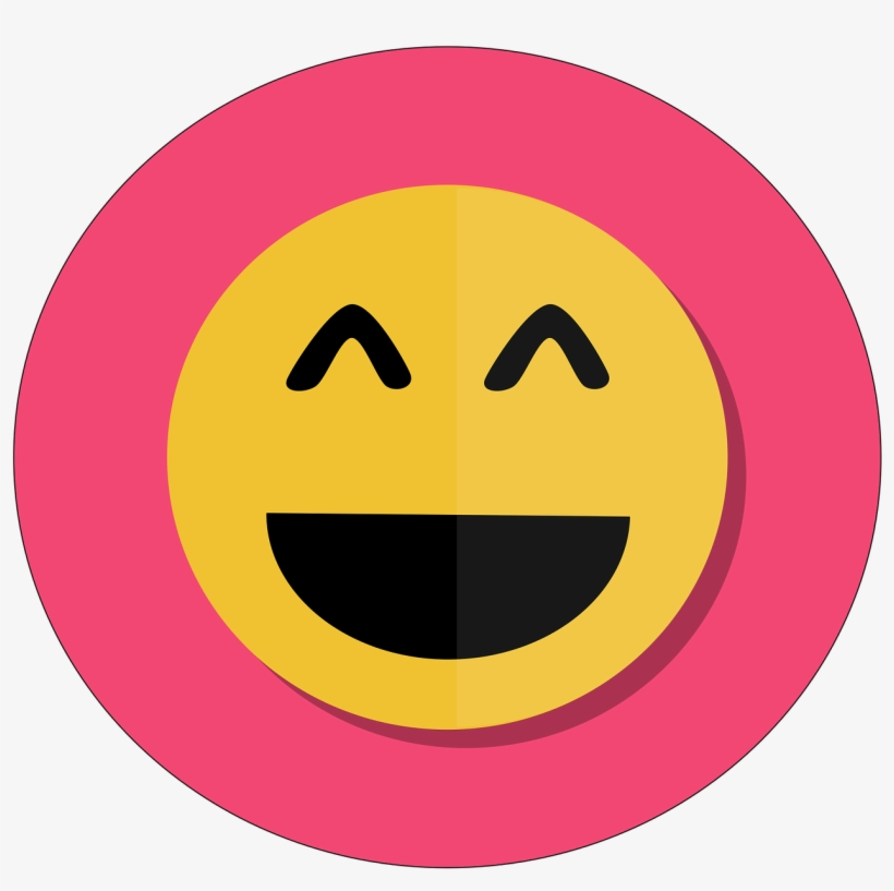 32ed2963e06 Happy Emoji Joy 3d Icon Funny Pink Free Ve - Happy Icon Png - Free ...