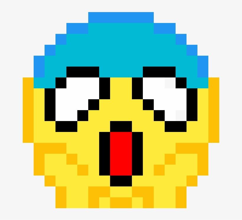 Shocked Emoji - Pixel Art Emoji, transparent png #110428