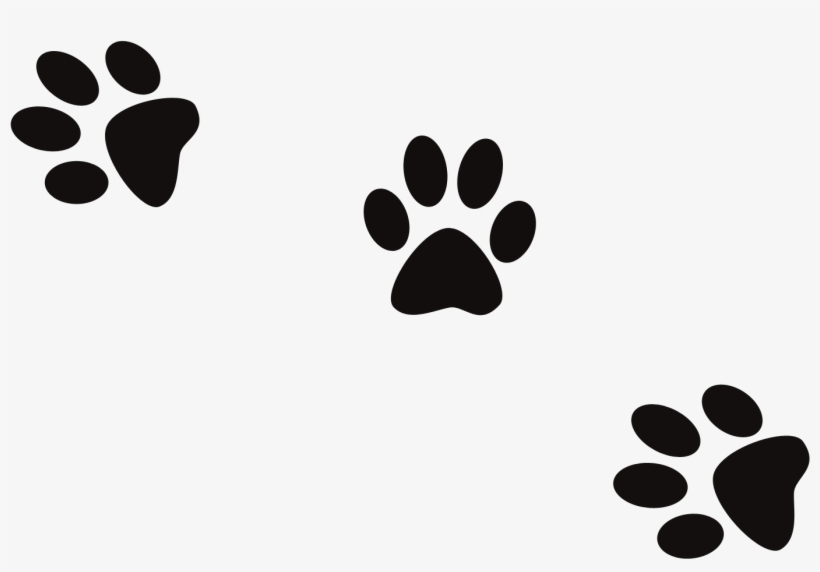 Dog Footprint Clip Art - Dog Prints Png, transparent png #110523