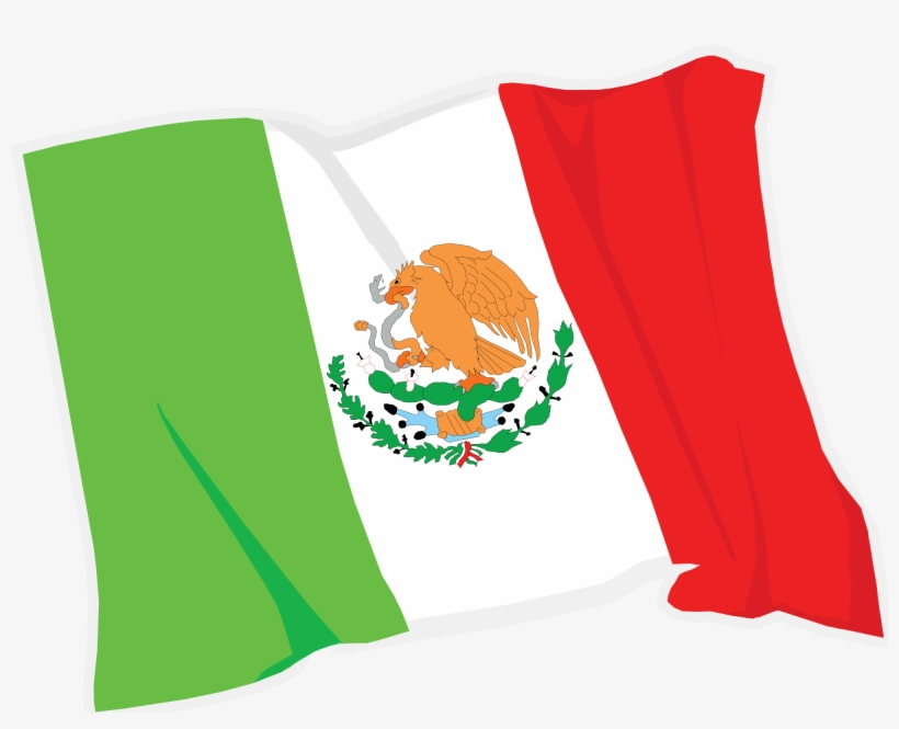 Mexico Clipart At Getdrawings - Mexican Flag Clipart Png, transparent png #111458