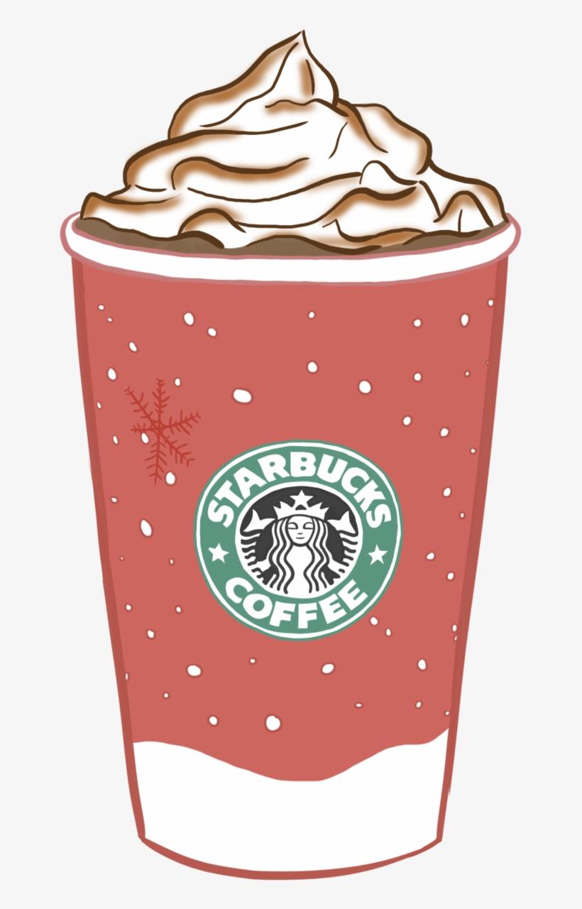 Images For > Starbucks Transparent Tumblr Pink - Christmas Starbucks Cup Png, transparent png #111527