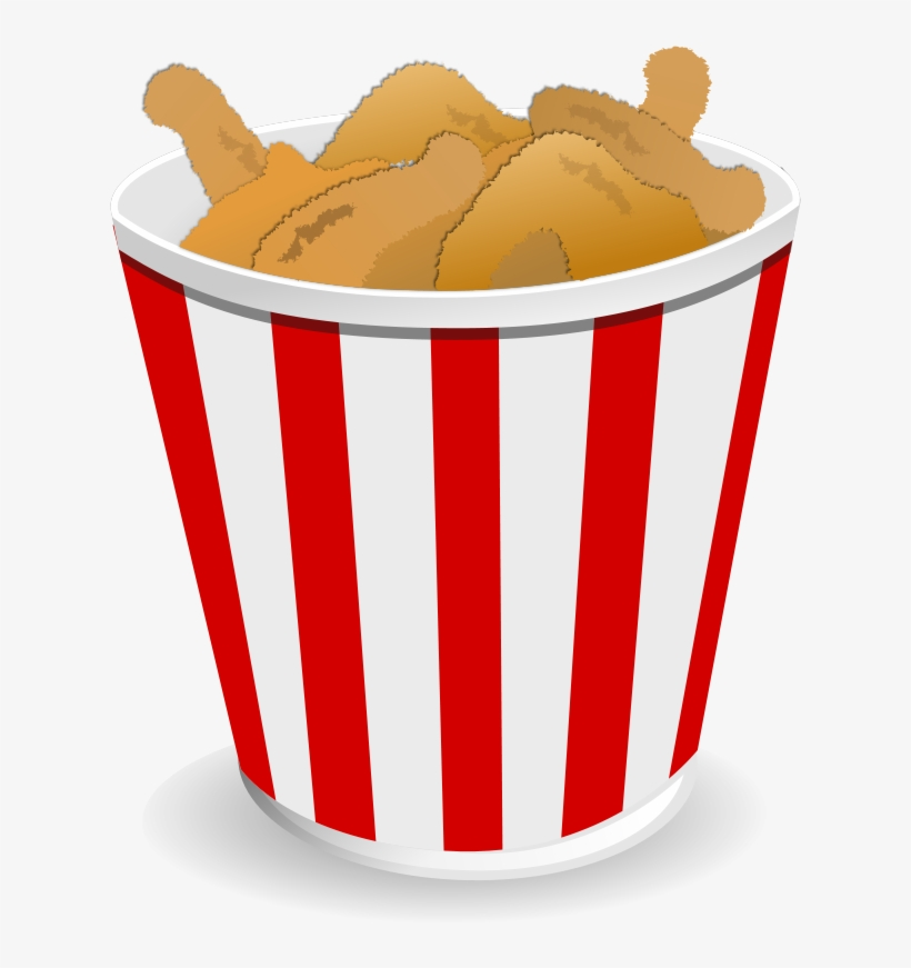 Fried Chicken Clipart Banner Free Library - Fried Chicken Bucket Cartoon, transparent png #111733