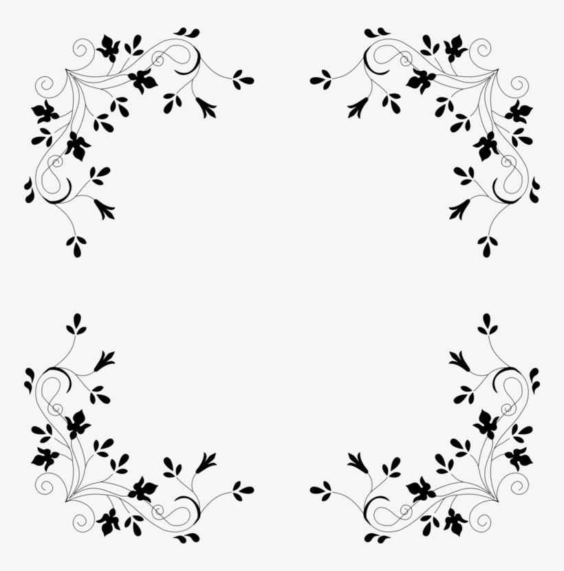 Deadlift Flower Squat Computer Icons Floral Design - Floral Border Design Kiss Png, transparent png #112125