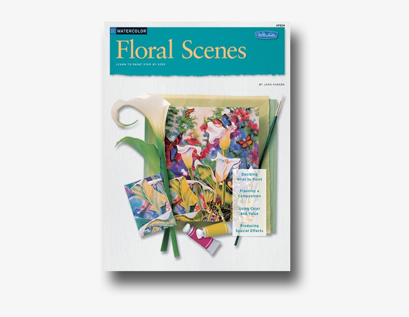 Floral Scenes Watercolor Book - Floral Scenes In Watercolor How To Draw, transparent png #113164