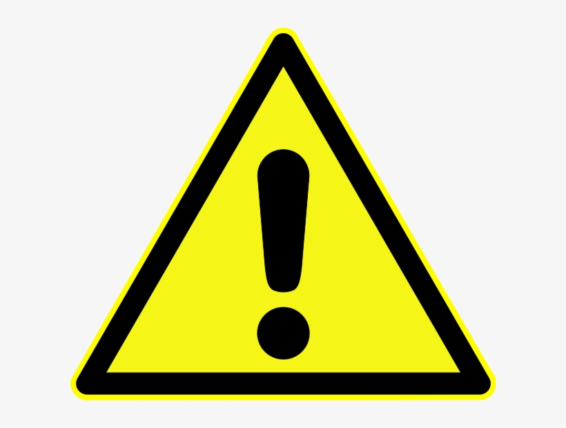 Tornado Warning Png Free - Exclamation Mark In Yellow