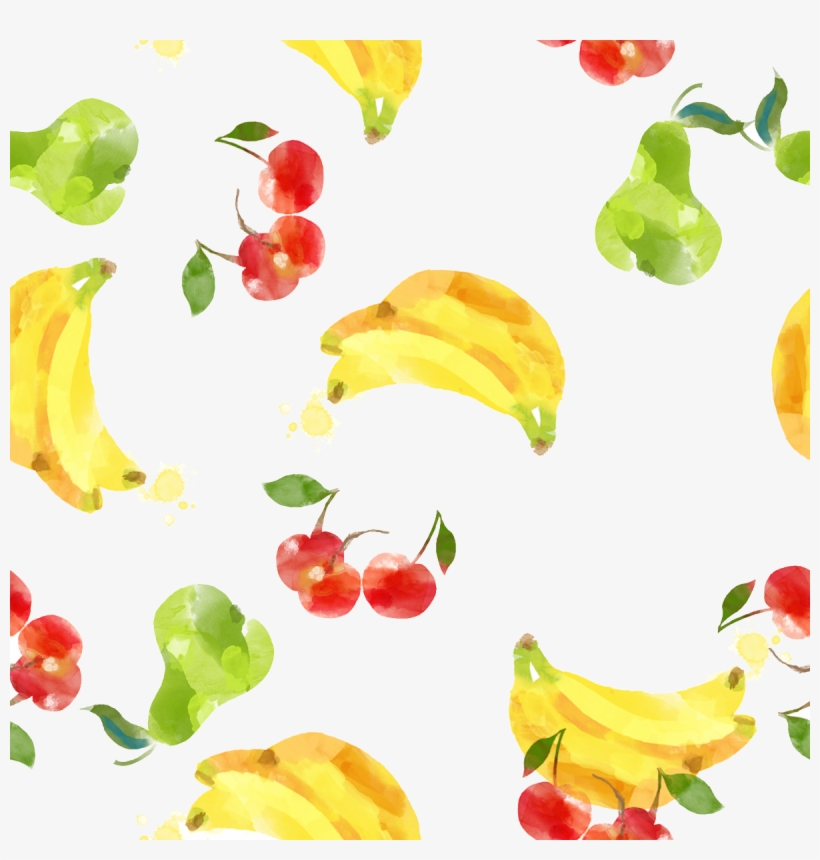 Clip Freeuse Library Creative Painting Banana Cherry - Watercolor Painting, transparent png #113699