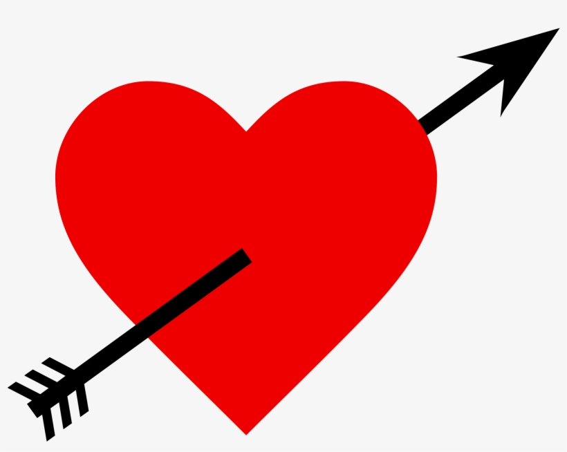 Heart Love Png Image - Love Heart With Arrow, transparent png #113898