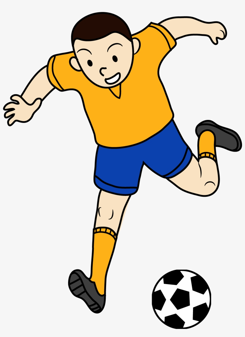 Kids Playing Sports Clipart - Clip Art Playing Football, transparent png #115631