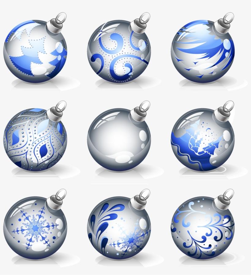 Christmas Ornament Crystal Ball - Crystal Balls Christmas Vektor, transparent png #115697