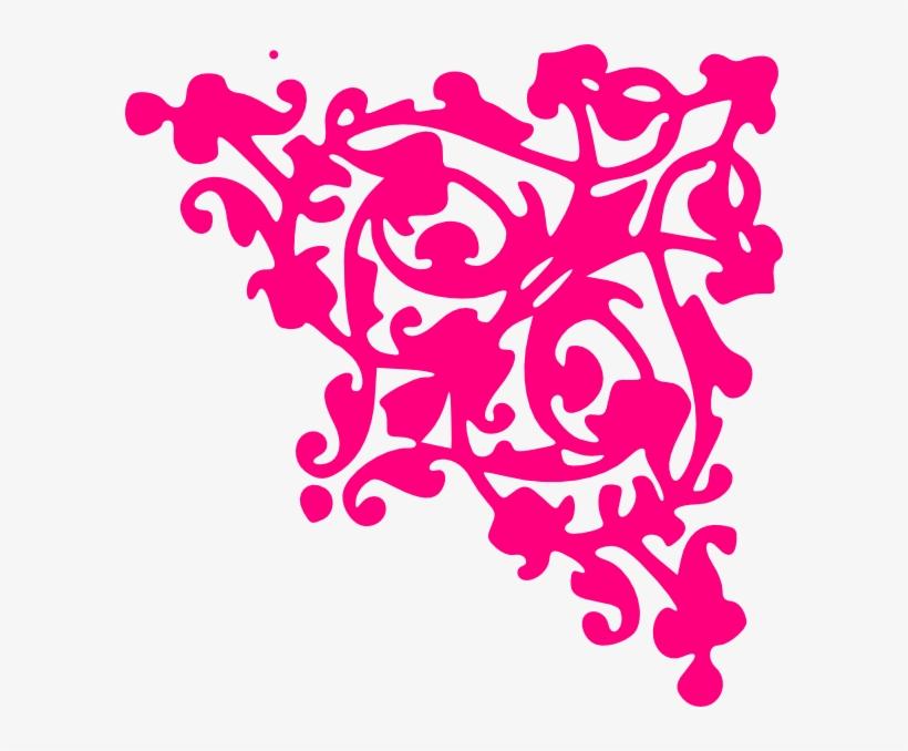 Border Corner Clip Art At Clker Com Vector Clip Art - Pink Corner Border Png, transparent png #116249