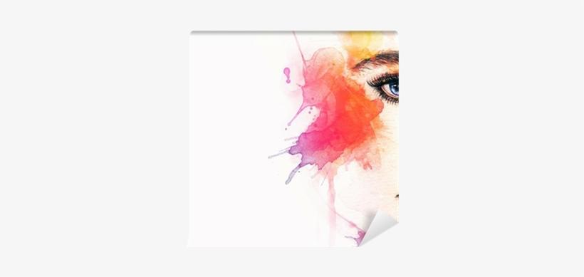 Beautiful Woman Face - Watercolor Woman, transparent png #117371