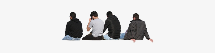Imagenatives 0016 Group Sitting Cutout - Group People Sitting Png, transparent png #117400