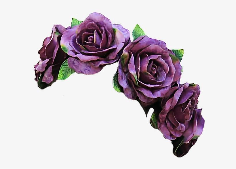 Clipart Free Library Vine Flowers Flowercrown Violet - Flower Crown Purple Png, transparent png #117403
