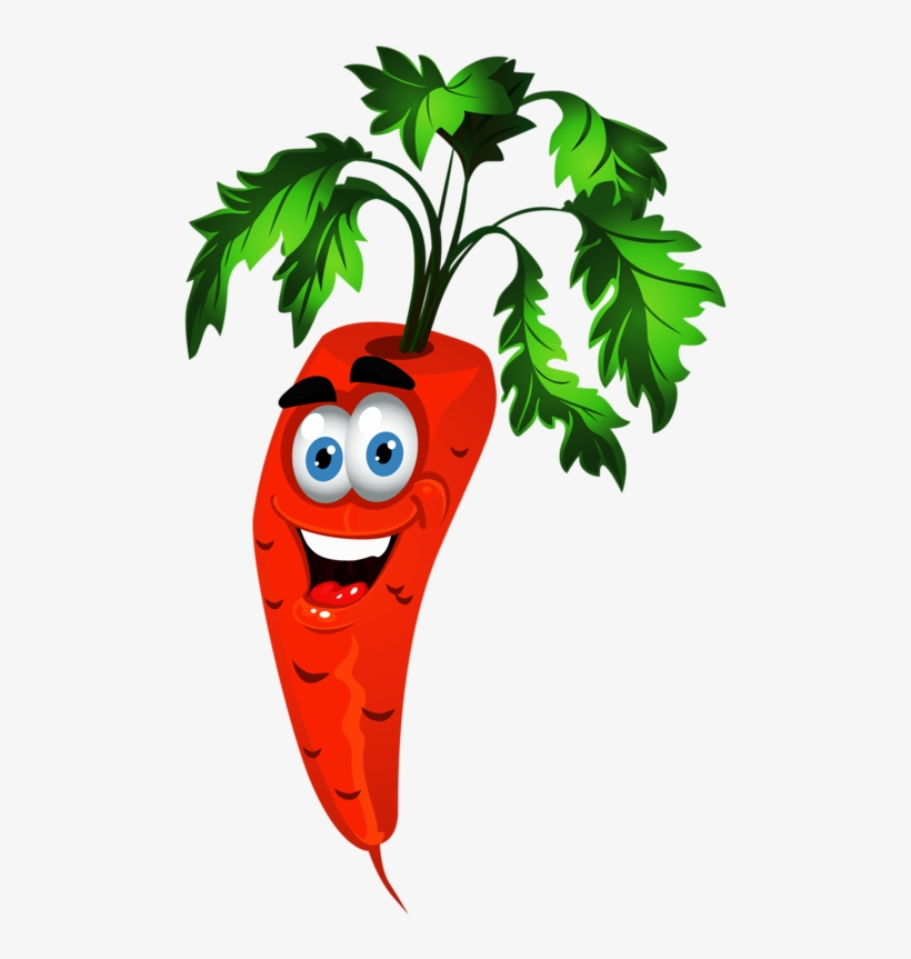 Fruits Clipart Carrot - Animation Fruits And Vegetables, transparent png #117500