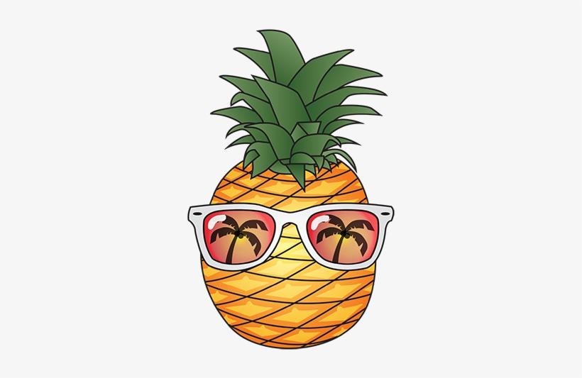 Pineapple summer. Cartoon png clipart transparent