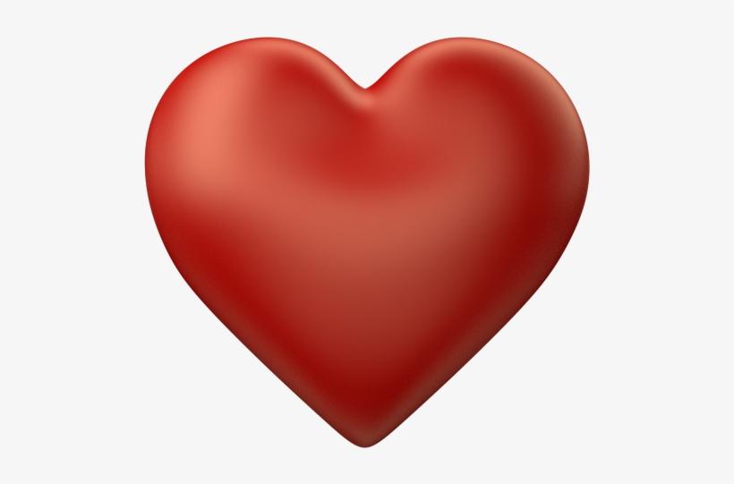 3d Love Heart Transparent - Love Heart Transparent Background, transparent png #118249