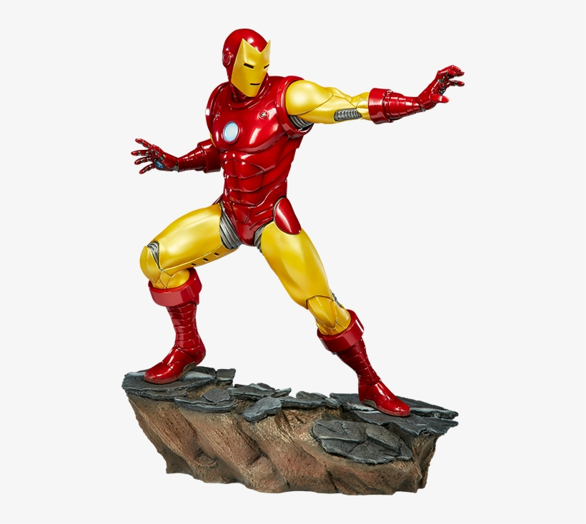Iron Man Png Background Image - Sideshow Avengers Assemble Iron Man Statue, transparent png #118314