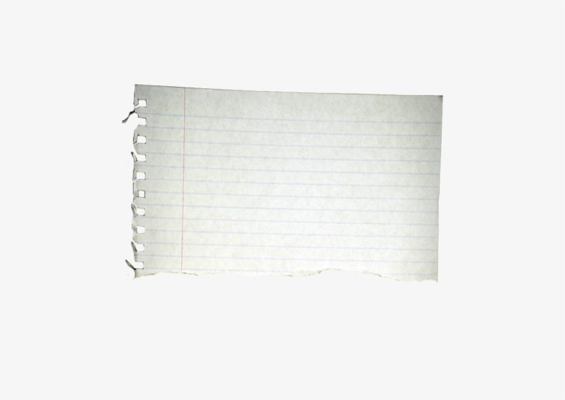 Notebook Paper Torn Png - Torn Notebook Paper, transparent png #118751