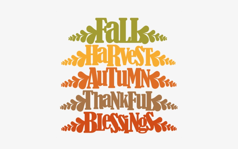 Fall Word Titles Svg Cutting File For Scrapbooking - Fall Svg, transparent png #118866