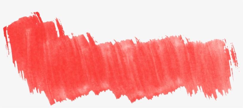 Red Vector Brush Stroke - Watercolor Brush Stroke Red, transparent png #118869