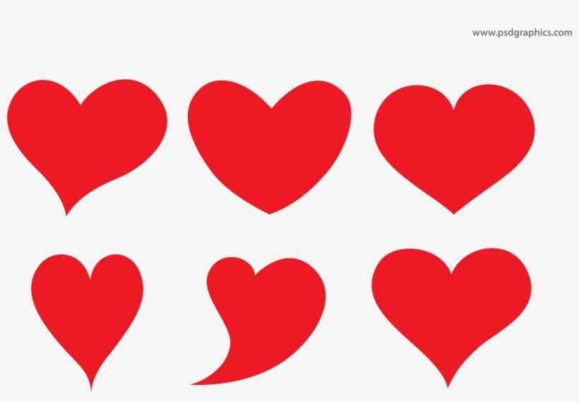 Vector Hearts Shapes - Heart Shapes, transparent png #119654