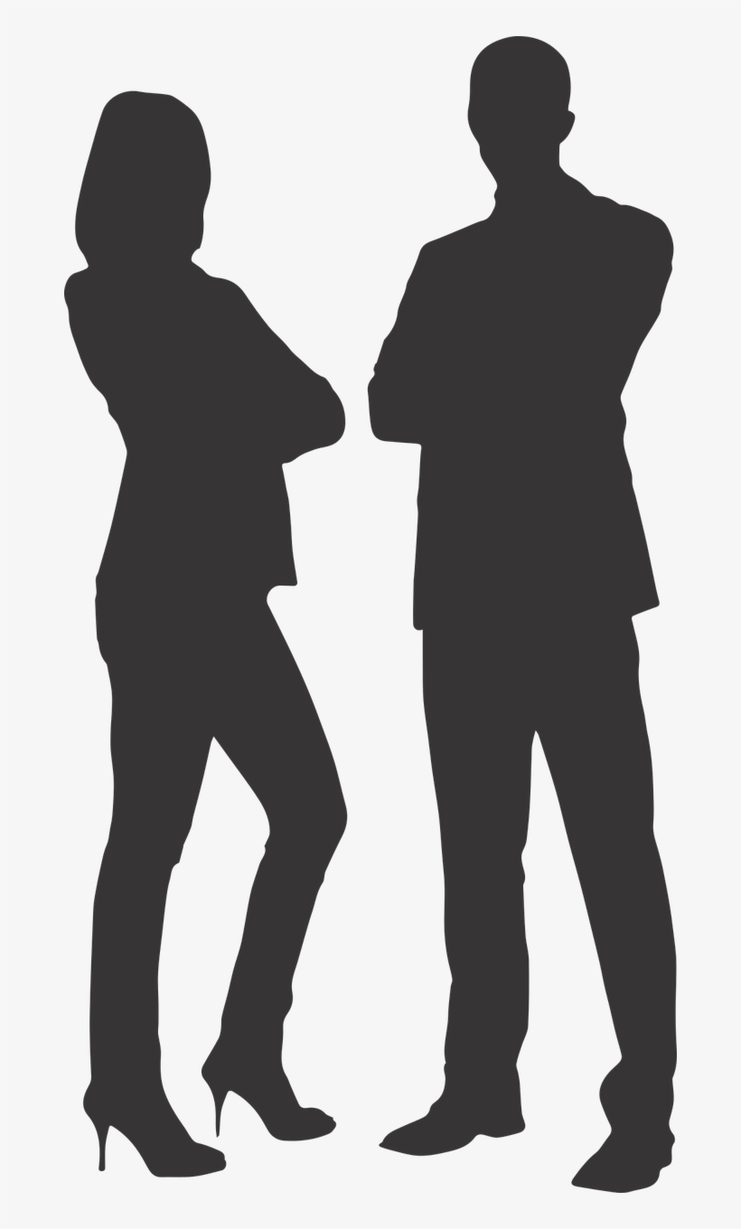 Silhouette Man And Woman On Heels - Man & Woman Business Vector Png, transparent png #1100671