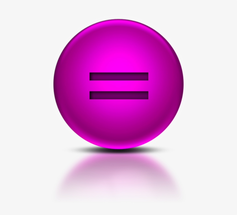 073339 Pink Metallic Orb Icon Alphanumeric Equal Sign - Purple Phone Icon Png, transparent png #1102327