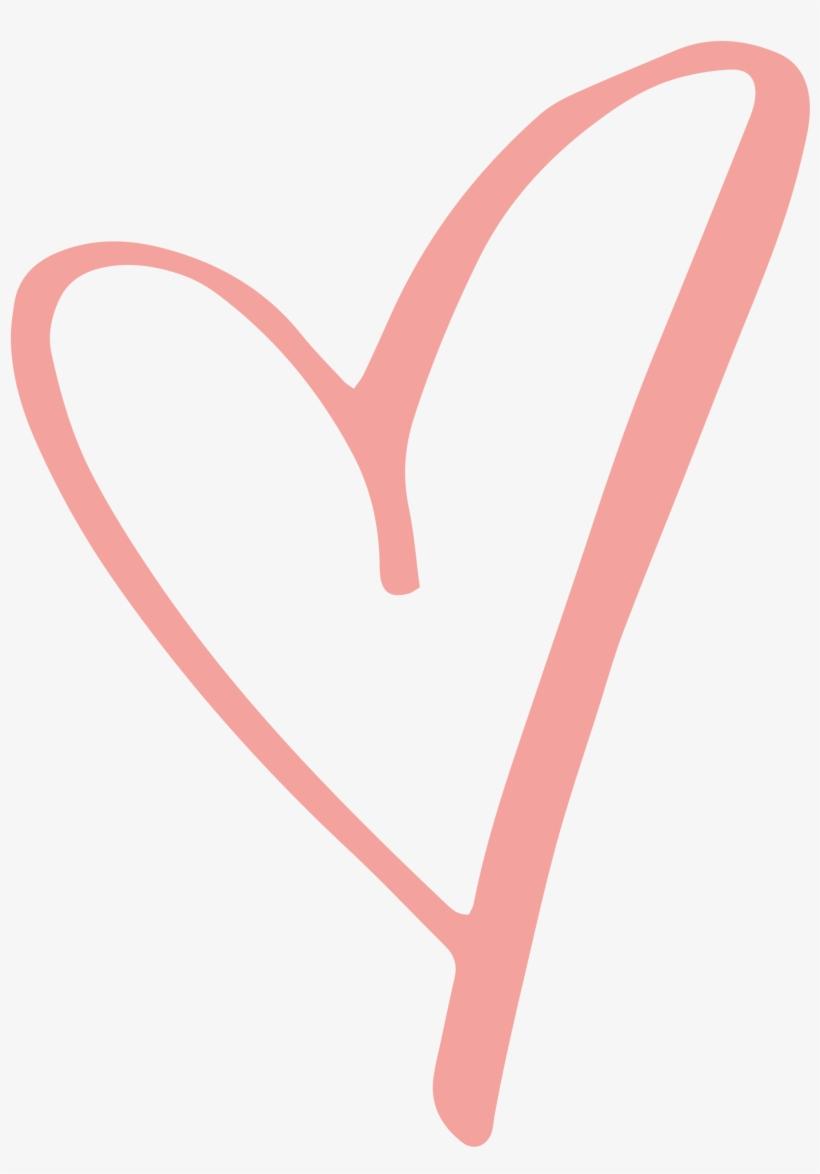 Rustic Clipart Love Heart - Pink Heart Transparent ... (820 x 1174 Pixel)