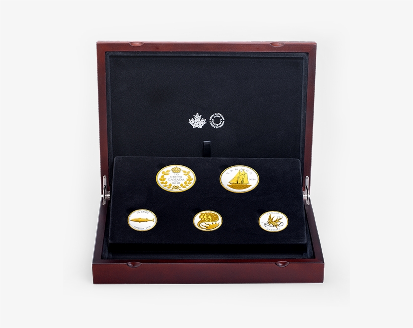 Pure Silver Gold Plated 5 Coin Set - 2017 Fine Silver Five-coin Set - Legacy, transparent png #1103544
