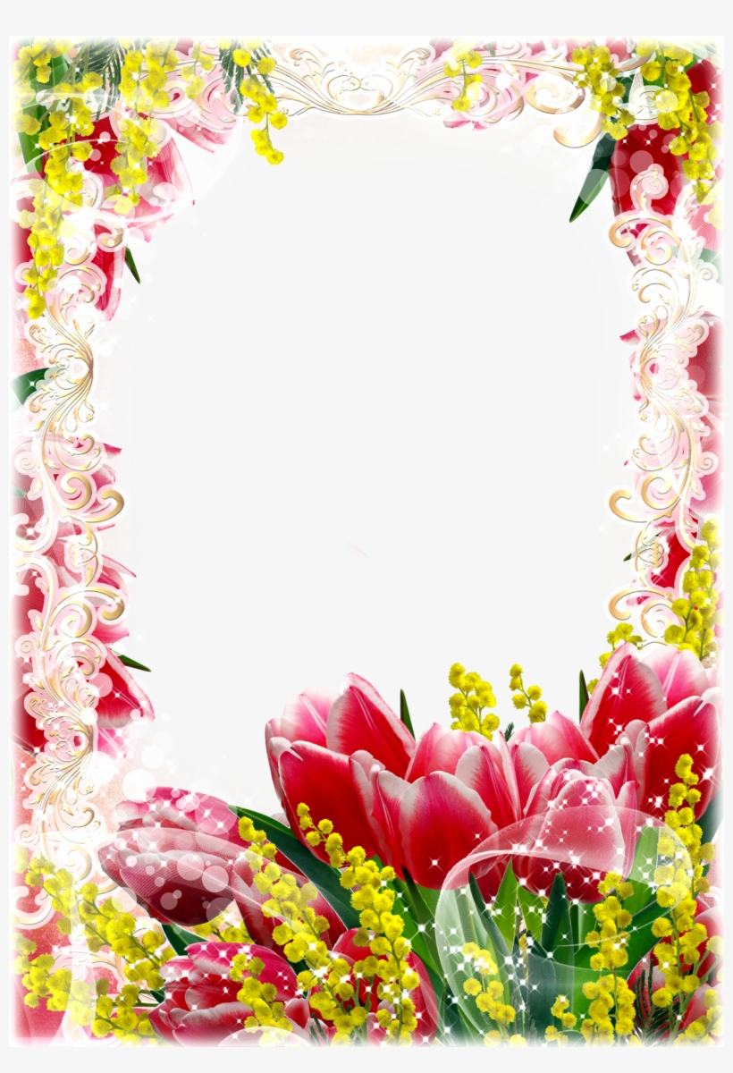 Red Yellow Flower Frame Png Flowers Frames Png Hd Free