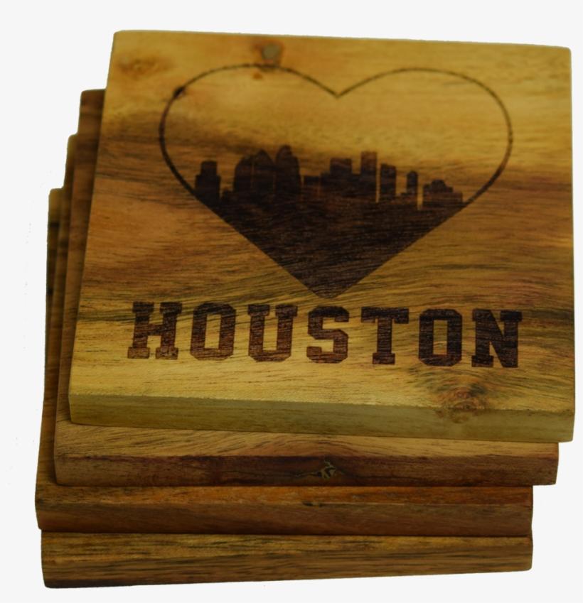I Love Houston Texas Skyline Coaster - Prestige Decanters I Love Houston Texas Skyline Coaster, transparent png #1107530