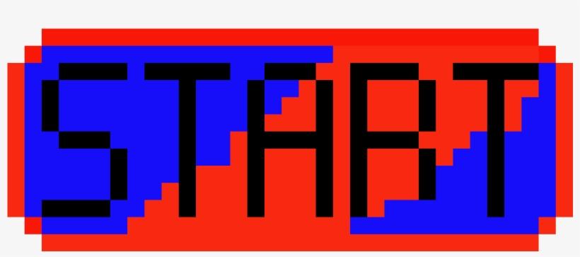 Start Button - Pixel Start Button Png, transparent png #1109029