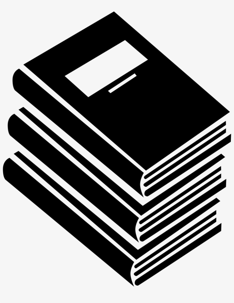 Books Stack For Education Comments - Pile Of Books Icons, transparent png #1109398