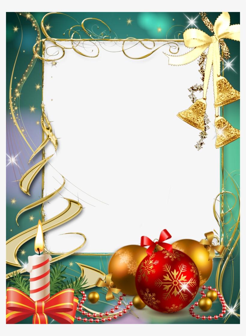 Christmas Border, Christmas Frames, Christmas Background, - Marco De Navidad Para Fotos Gratis, transparent png #1110308